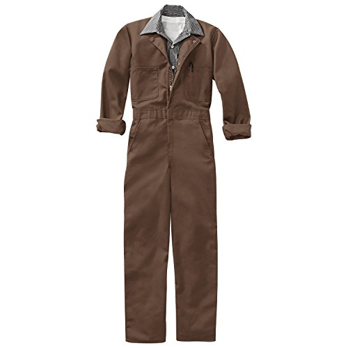 Averill's Sharper Uniforms Men's Industrial Twill Action Back Coveralls 40 Brown