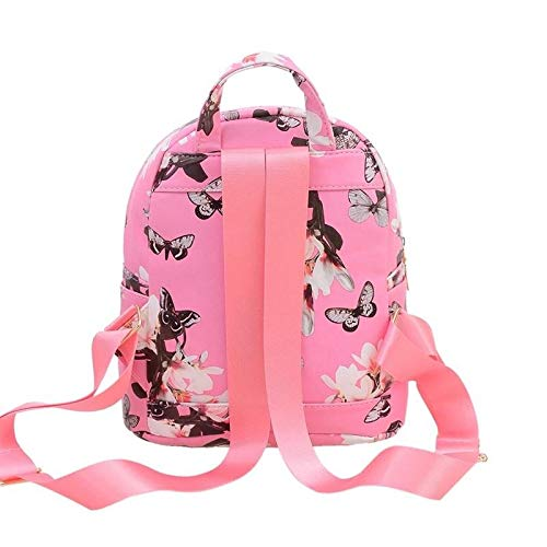 Donalworld Women Floral School Bag Travel Cute PU Leather Mini Backpack S Col6 by Donalworld (Image #4)