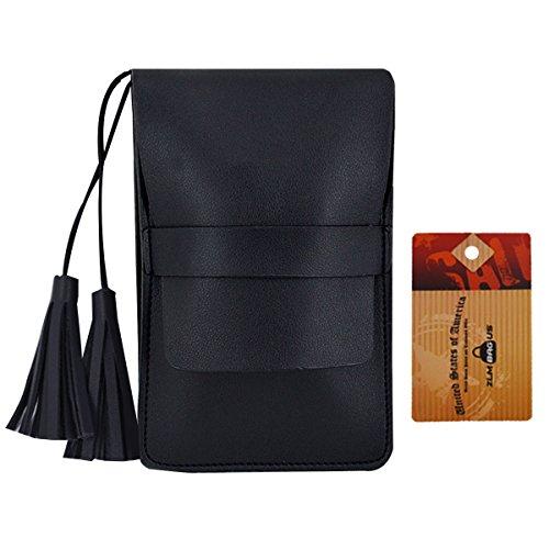Trendy Tassel Messenger Bag Black - 4