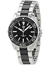 Aquaracer Black Dial Steel and Ceramic Ladies Watch WAY131A.BA0913