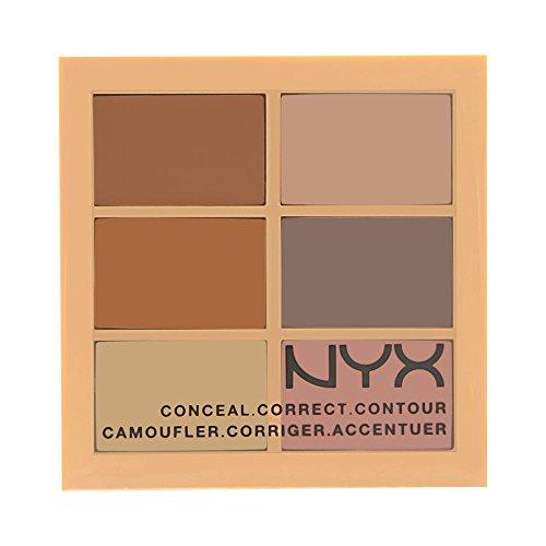 NYX PROFESSIONAL MAKEUP Conceal, Correct, Contour Palette, Light, 0.05 Ounce]()