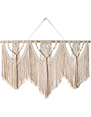 InMalla Large Macrame Wall Hanging Wide Boho Macrame Wall Decor Art Home Chic Decoration for Bedroom Living Room Apartment Dorm Gallery Perfect Handmade Gift Ideas(W:43.3in * H:32.3in)