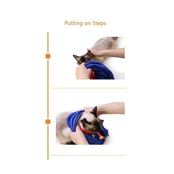 CatYou Cat Grooming Bag Puppy Dog Cleaning Polyester Soft Mesh Scratch & Biting Resisted for Bathing Injecting Examining… Click on image for further info. 2