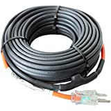 HEATIT JHSF 15-feet 120V Self Regulating Pre-assembled Pipe Heating Cable