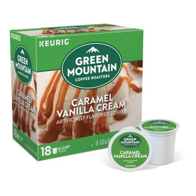 Green Mountain Coffee K-Cups Caramel Cream 18 Count (Green Mountain Caramel Vanilla Cream K Cups)
