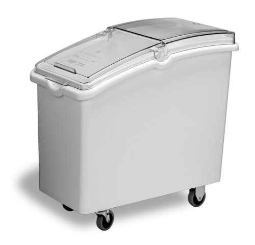 Continental 9326, White 26 Gallon Mobile Ingredient Bin
