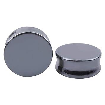 FENICAL Expansores de Túnel Plugs de Piedra Pendientes Dilatadores de Oreja Piercing Joyas Expansores Oreja 8mm Negro: Amazon.es: Hogar