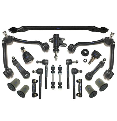 Gmc C2500 Suburban Pitman Arm - PartsW 18 Pc Suspension & Steering Kit for Chevrolet & GMC / C1500 Suburban / C2500 / C3500 / Tahoe/Yukon/Center Link with Idler & Pitman Arms, Control Arms & Ball Joints, Tie Rod Ends & Sway Bars
