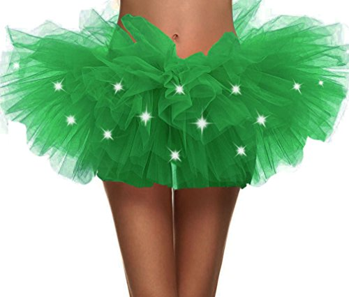 Simplicity Womens LED Light Tutu Skirt Dance Rave Tutu Skirt Dress,Green]()
