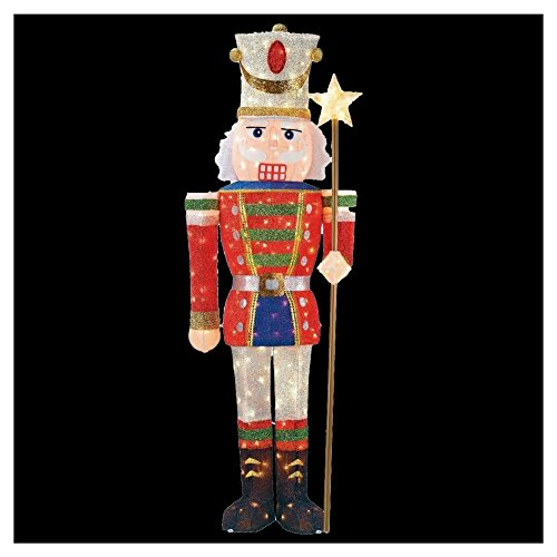 - 5 ft. Pre-Lit Tinsel Nutcracker Soldier