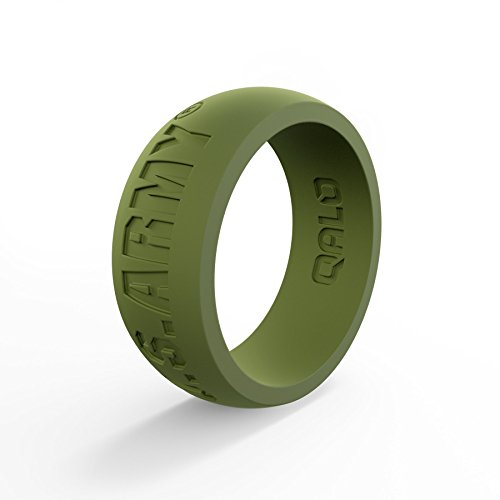 (Men's Army Green U.S. Army Classic Q Q2X Silicone Ring Size 13)