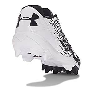 Under Armour Men's Leadoff Low RM, Black (011)/White, 8.5