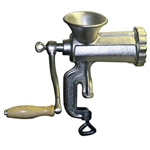 Sportsman MHG10 #10 Cast Iron Clamp On Manual Meat Grinder