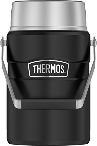 Thermos Stainless King Vacuum Insulated Food Jar, 47 Ounce, Matte Black