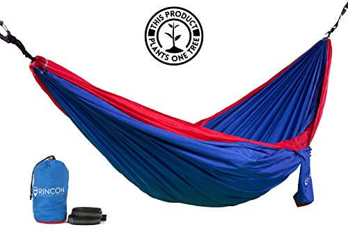 l Plant a Tree! Rincon 'Trestles' All-in-One Double Hammock. We Give You Straps - 'Knot' Rope - and a Lifetime Guaranty. Cause We've Got Your Back.And Your Butt. (Trestle Tree)