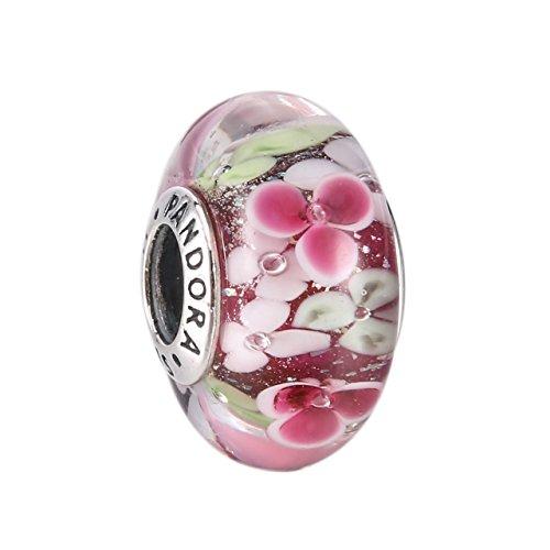 Flower Garden Murano Pink Glass