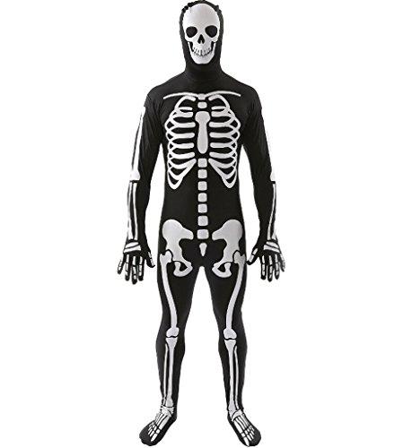 [Eternatastic Halloween Skeleton Costume Skull Bone Adult PartyDress Male without Mask] (Adult Minecraft Costumes)