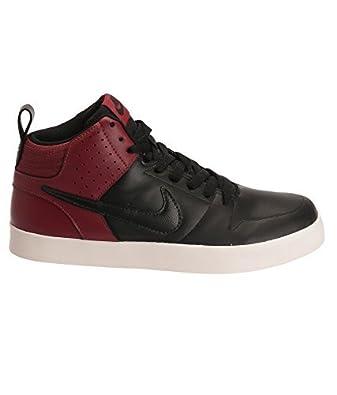 c3c46b6c4448 NIKE LITEFORCE III MID SL Black Black Red Casual Sneakers -8 UK India (42.5  EU)(9 US)  Buy Online at Low Prices in India - Amazon.in