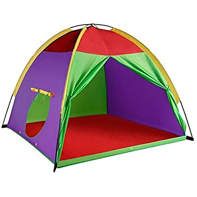 """Alvantor Kids Tents Indoor Children Play Tents For Toddler Tents For Kids Pop Up Tent Boys Girls Toys Indoor Outdoor Play Houses 8017 Giant Party 58""""x58""""x47"""": Toys & Games"""