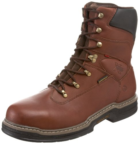 Wolverine Multishox Waterproof Steel Toe (Wolverine W04822 Men's Buccaneer Dark Brown Steel-Toe EH Waterproof Work Boot - 8 D(M) US)