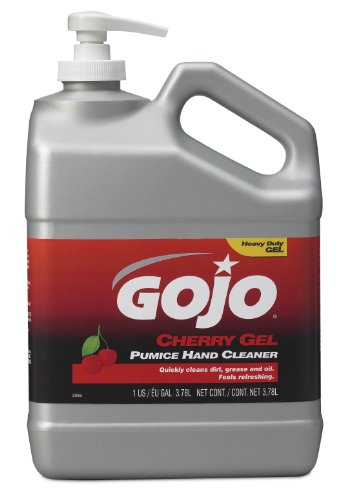 Gojo 2358-02 Cherry Gel Pumice Hand Cleaner Pump Bottle - 1