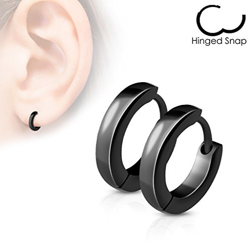14MM-Hoop-Earrings-Surgical-Stainless-Steel-Rhodium-Plated-Earrings-For-Men-Women-Huggie-Hypoallergenic-Hoop-Earrings
