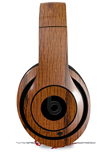 Skin Decal Wrap Works with Beats Studio 2 and 3 Wired and Wireless Headphones Wood Grain - Oak 01 Skin Only Headphones NOT Included