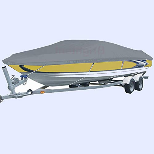 - Waterproof 17' to 19' Boat Cover Trailer Fishing V Hull Runabout Storage XBT2G