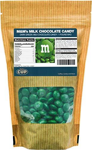 Dark Green Milk Chocolate M&M's Candy (1 Pound -