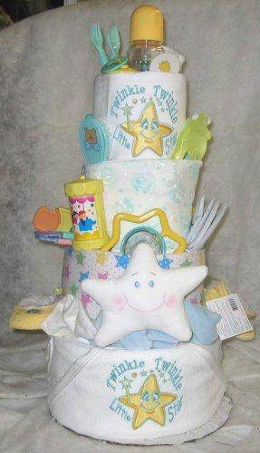 Amazon.com: 4 niveles Twinkle Twinkle tarta de pañales de ...