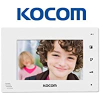 Kocom KCV-D372-W Video Door Intercom 7 Monitor Station Hands-free, 2-wire system, White …