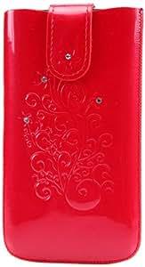 DC SS-I9300-90-4/5 SRC Protect Silvery - Funda de piel para Samsung Galaxy S III GT-i9300, color rojo
