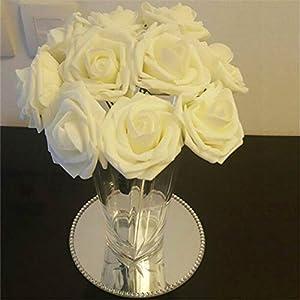 10 Heads 8Cm Pretty Charming Artificial Flowers Pe Foam Rose Flowers Bride Bouquet Home Wedding Decor Scrapbooking DIY Supplies 9