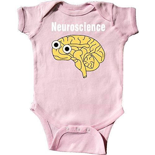inktastic - Neuroscience Brain White Text Infant Creeper 6 Months Pink 333ba ()