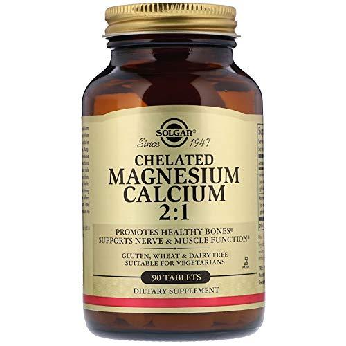 Calcium Tabs Chelated (Solgar - Chelated Magnesium Calcium 2:1, 90 Tablets)