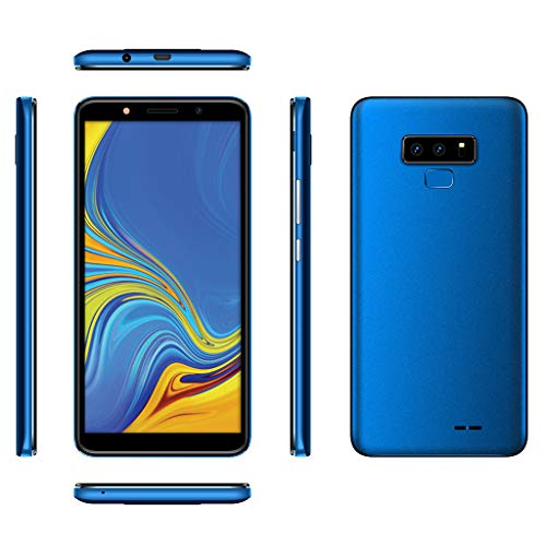 Matoen Android 6.0 Unlocked 6.0 Cell Phone Quad Core Dual SIM 3G T-Mobile Smartphone Xbo Note9 Smartphone 5.0 inch Screen, 3G, 512+4GB (Blue) by Matoen (Image #1)