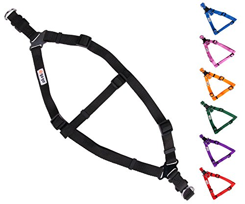 - GoGo Pet Products Comfy Nylon 3/4-Inch Adjustable Easy Pet Harness, Medium, Black