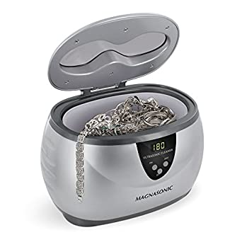 Magnasonic Professional Ultrasonic Jewelry Cleaner with Digital Timer for Eyeglasses, Rings, Coins (MGUC500)