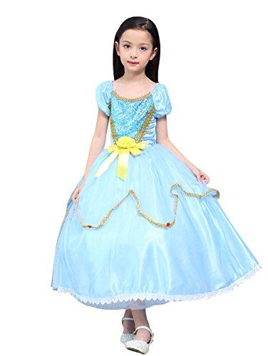 Lestore Girls Fancy Party Princess Halloween Dress Costume Cosplay (7-8 Years)]()