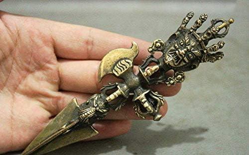 Fashion158 Mahakala Espada de Buda Faqi y Talism/án Estatua del Budismo del T/íbet Vajvakilaka