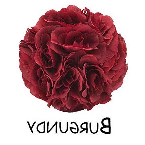 Mikash 7/10 Flower Kissing Ball Rose Pomander Wedding Party Home Decoration | Model WDDNGDCRTN - 23339 | 10