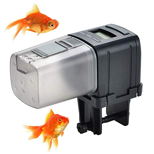 Songway Automatic Fish Feeder Auto Fish Food Dispenser/Aquarium Tank Digital Fish Timed Feeder/Adjustable Fish Food Timer Feeder for Vacation Weekend Holiday