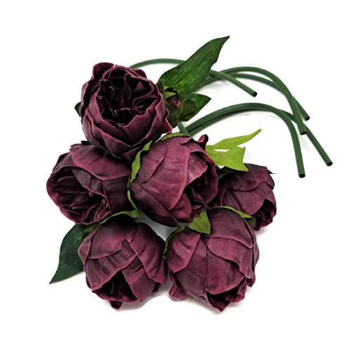 Meide-Group-USA-14-Real-Touch-Latex-Mini-Peony-Bunch-Artificial-Spring-Flowers-for-Home-Decor-Wedding-Bouquets-and-centerpieces-6-PCS-Wine