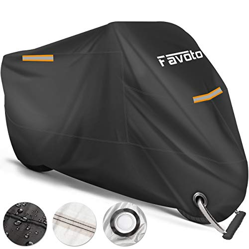 Favoto Motorhoes Waterdichte XXL 245cm Lang, Bestand Tegen Water, Stof, Regen, Wind, om je Motoren/ Scooters…