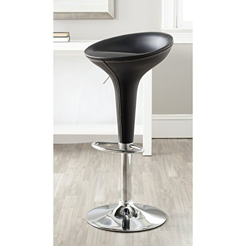 Safavieh Home Collection Shedrack Black Adjustable Swivel Gas Lift 23.2-31.7-inch Bar Stool