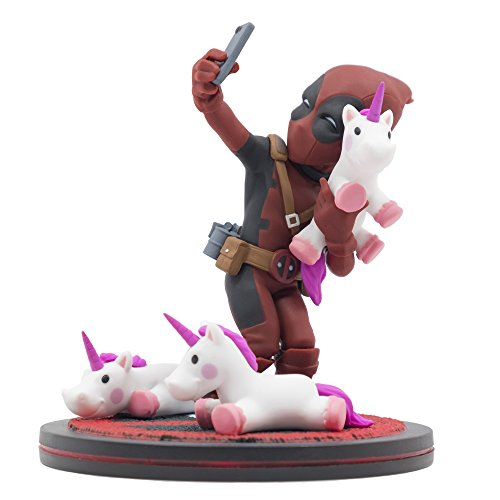 Quantum Mechanix Deadpool Unicorn Selfie Q-Fig Max Toons Figure