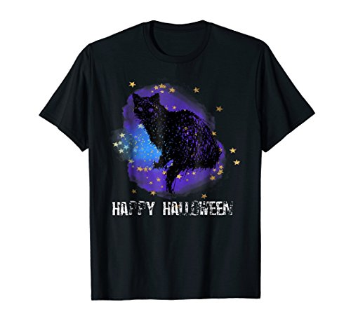 Halloween Black Cat T Shirt