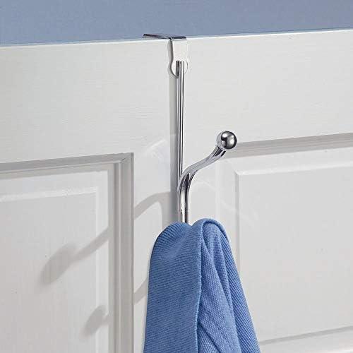 mDesign Percheros de puerta con ganchos dobles – Set de 3 ganchos ...