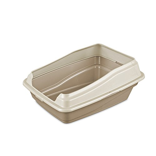 Sterilite 13046108 Framed Cat Litter Pan, Camel Pan w/ Seashell Frame, (Framed Cat Pan)