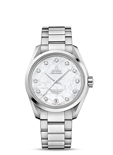Aqua Terra Stainless Steel Watch - Omega Women's 'Aqua Terra' Swiss Quartz Stainless Steel Dress Watch, Color:Silver-Toned (Model: 23110392155002)